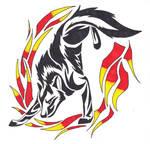 Wolf Through Fire Tribal