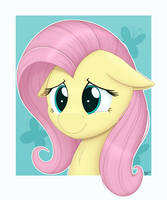 Fluttershy Portrait by Arcane-Thunder