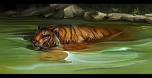 Floating tiger improvisation