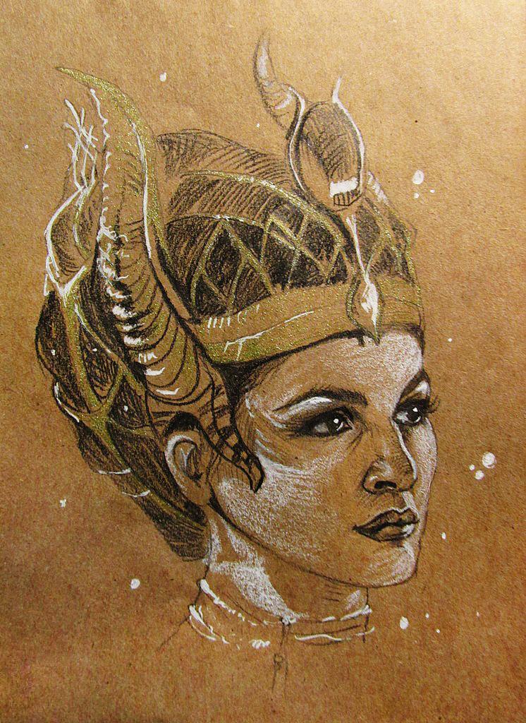The Gods of  Egypt - Hathor by SalamanDra-S