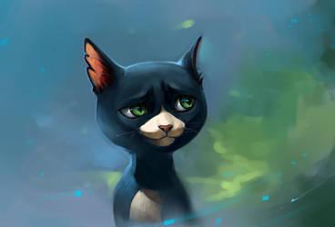 Cat from a cartoon film Volt by SalamanDra-S