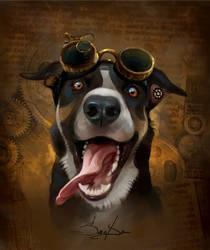 Steampunk style Dog