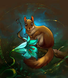 Squirrel in the style 2021