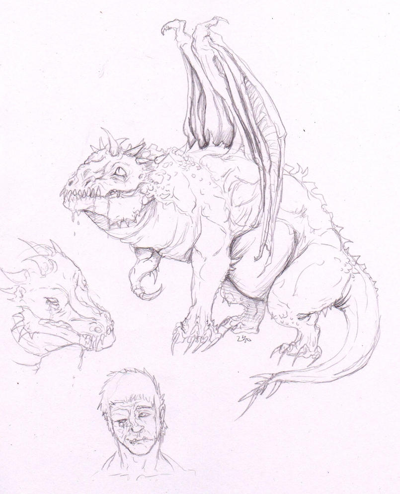 Deformed Dragon Idea by McFlabwobble