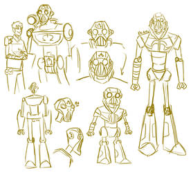 Robotus Roughs by Thorn-Zenithar