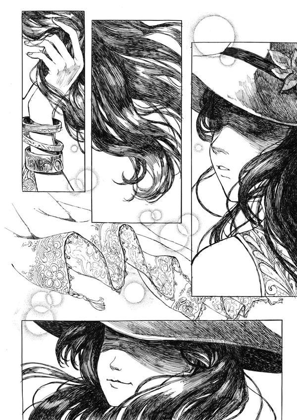 Fingers through her hair by Rikae