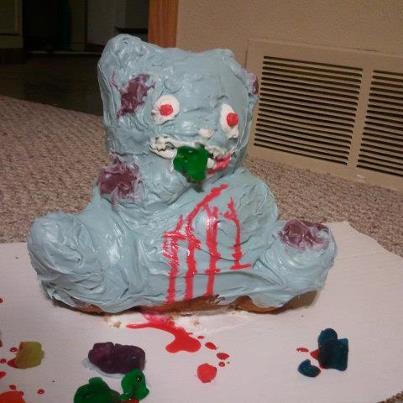 Zombie gummy bear cake by neko-mimi-azul