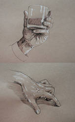 Hand Studies in Ink by outsidelogic