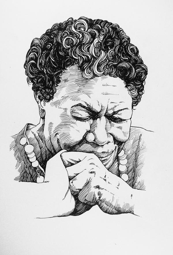 Maya Angelou by outsidelogic