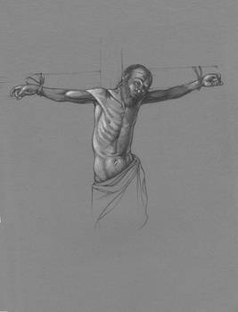 Study from Caravaggio's Crucifixion of St Andrew