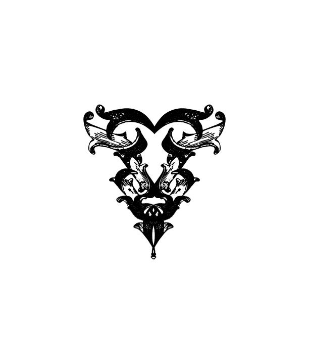 Heartesche - chest tattoo