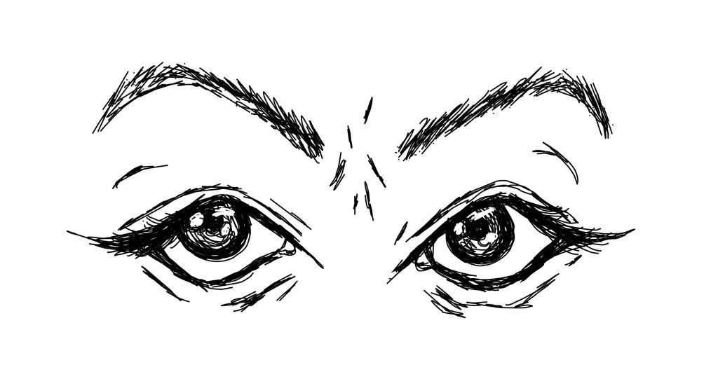 Doodle of eyes by TheDoctorsGal