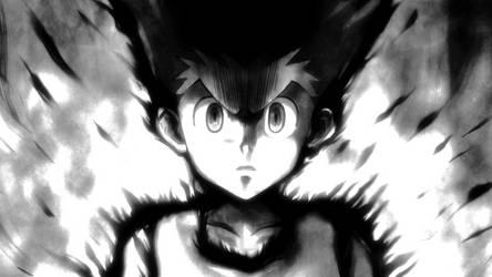 Gon Freecs Screenshot Wallpaper (Grayscale) by Jinchu-No-Hitokiri