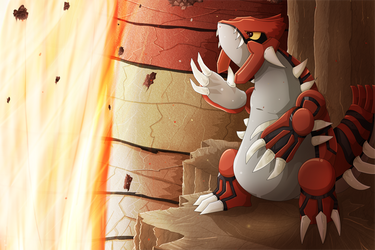Groudon: The Creator of Continents by Damaged927