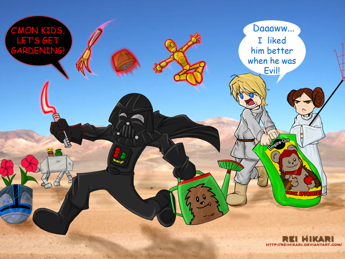Star Wars: Garden Lord Vader by ReiHikari