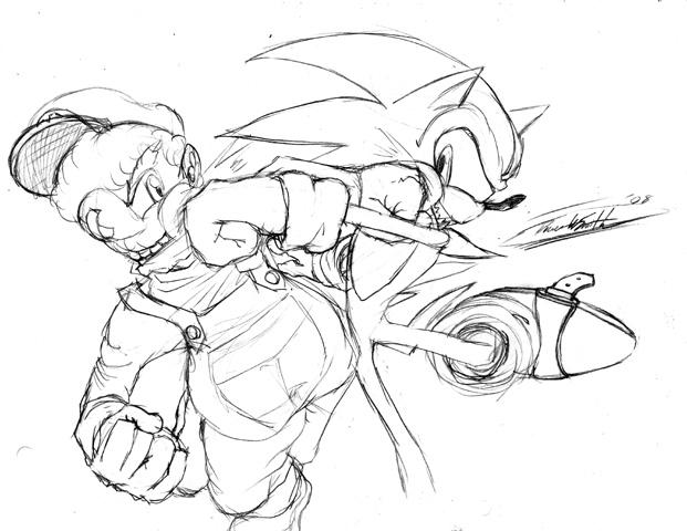 Mario VS Sonic: Punchout by barrel-kun on DeviantArt