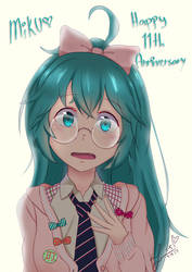 Happy 11th Anniv Hatsune Miku by Konakurou