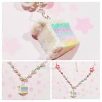 Sparkle Rainbow Cake Necklace