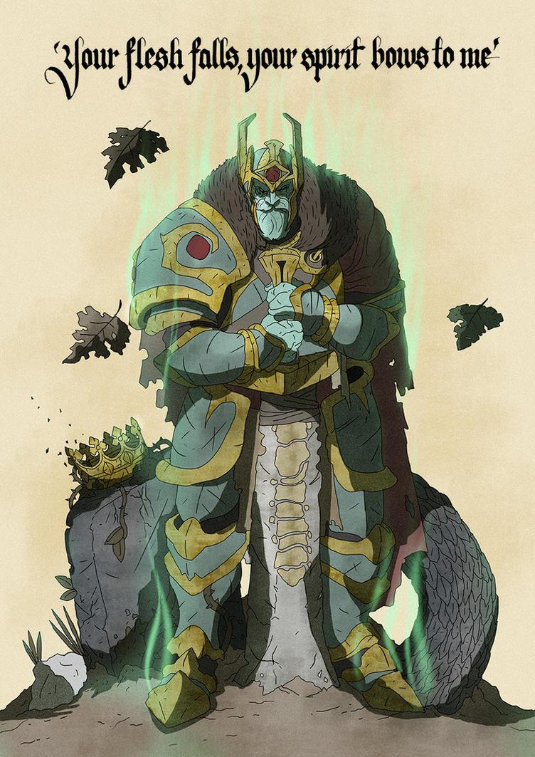 Wraith King - DOTA 2 by cromArt
