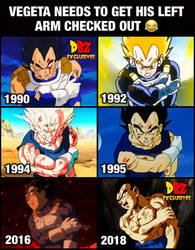 Vegeta needs to get his left arm checked out