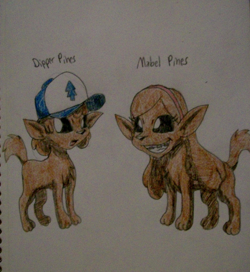 how to draw dipper and mabel