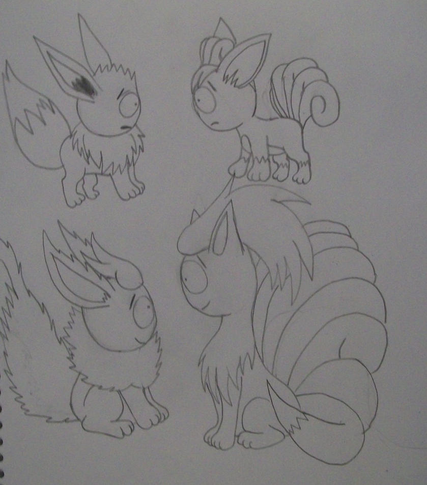 Vulpix And Eeve...