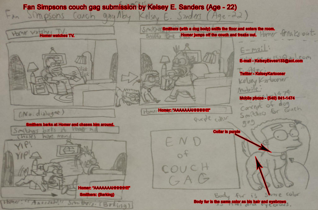 My Couch Gag Submission for The Simpsons by KelseyEdward