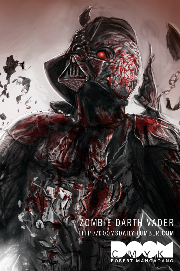 Zombie Darth Vader by DoomCMYK