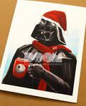 Darth Vader Xmas card closeup2 by DoomCMYK