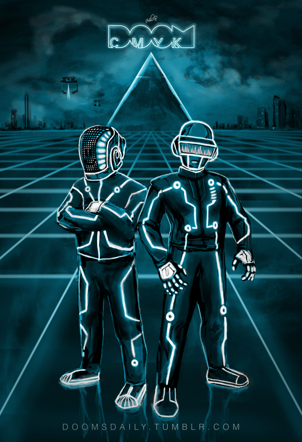 Daft Punk TRON drawing by DoomCMYK on DeviantArt