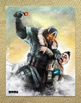 Killzone 3 and PSMove poster