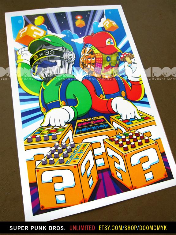 Super Punk Bros. by DoomCMYK