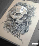 Skulls and Roses Work #1