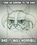Grumpy Cat x Skyrim