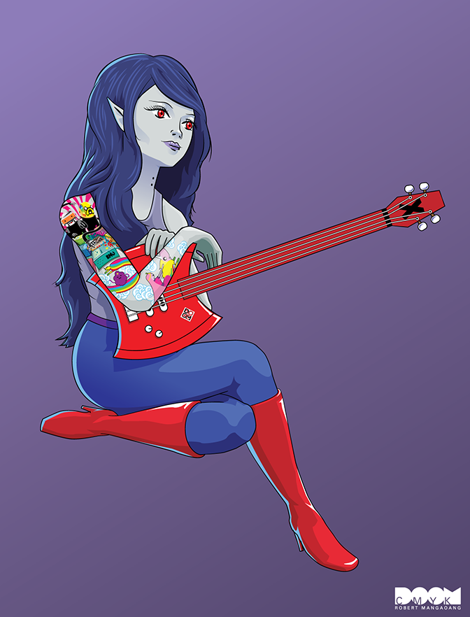 Marceline Adventure Time fan art by DoomCMYK