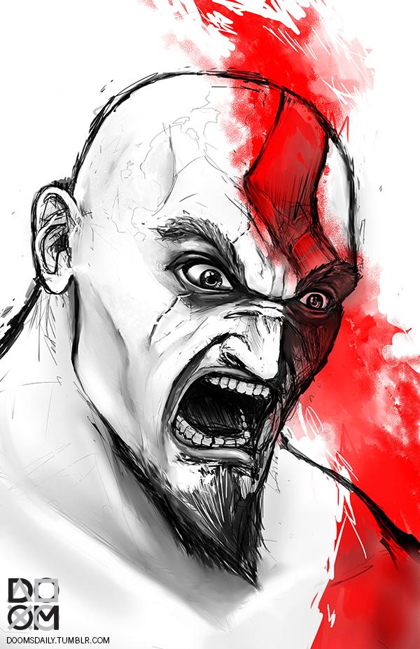 Kratos fan art by DoomCMYK