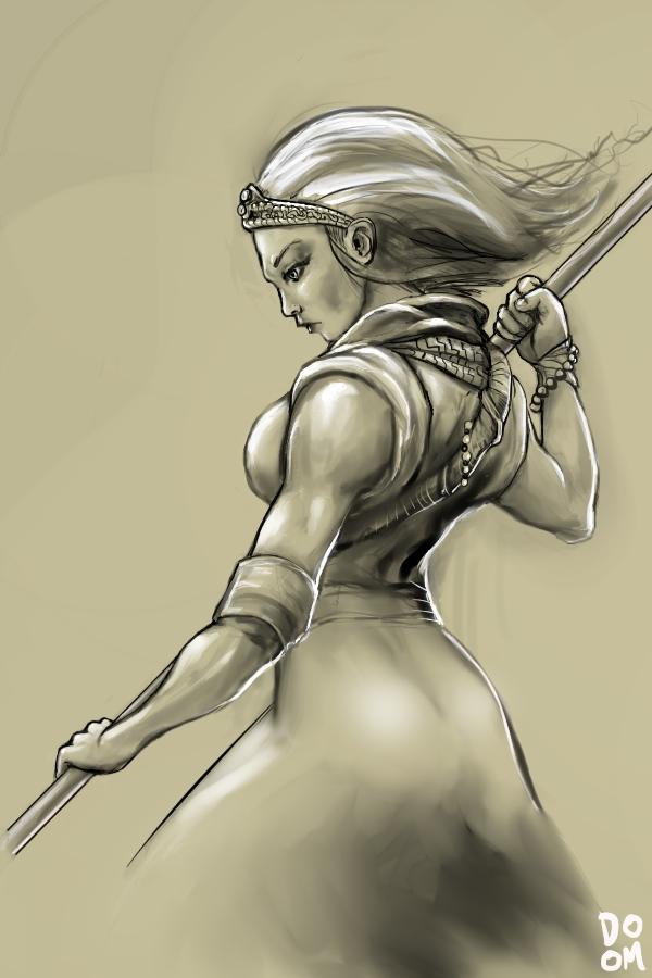 Female Monk sketch by DoomCMYK