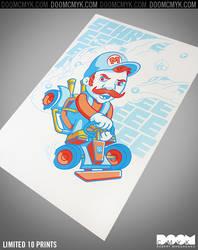 Mario Kart fan art by DoomCMYK