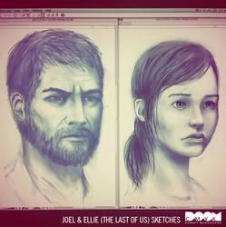 Joel and Ellie sketches by DoomCMYK