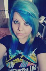 Blue hair by TheMerthyrRiot