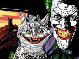 Joker and Batman by TheMerthyrRiot