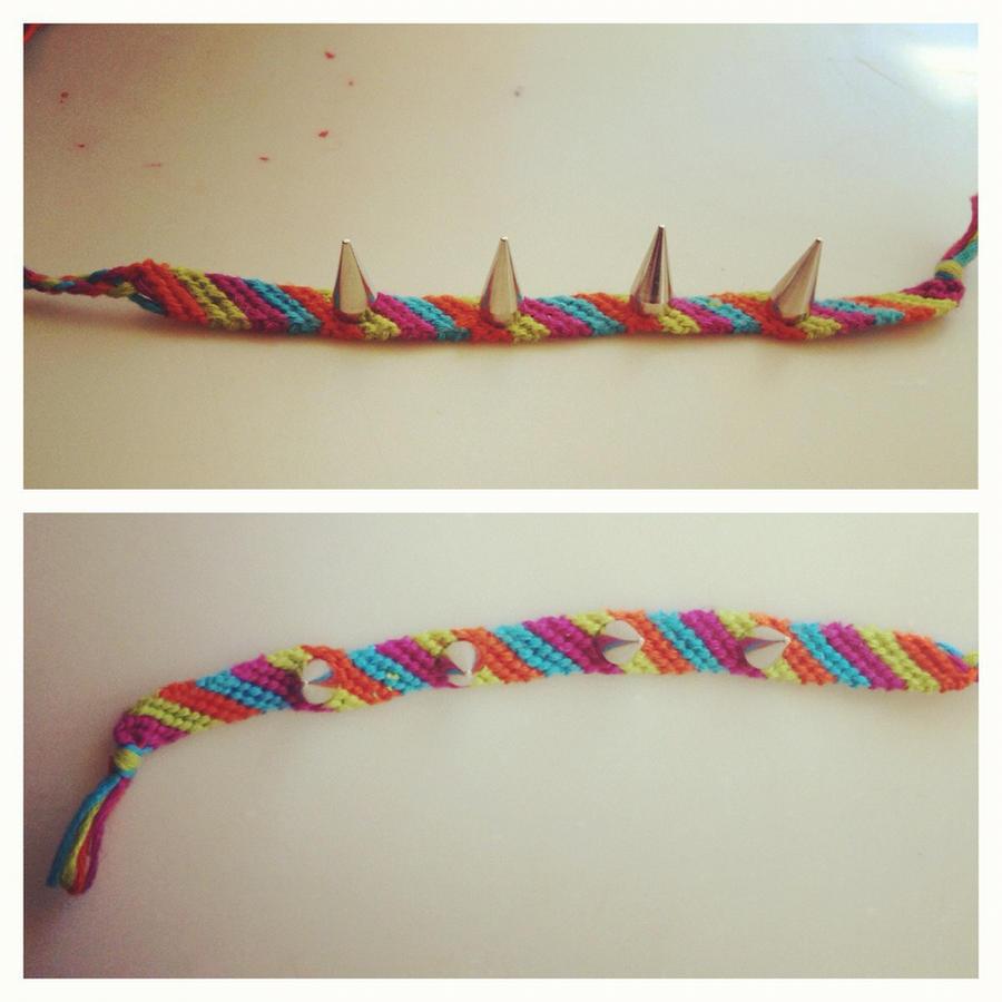 Studded string bracelet by beet17