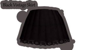 [MMD\PMD\PMX Parts] Black Vintage Skirt+Download by lazySmokie
