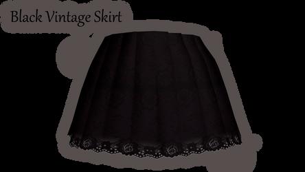 [MMD\PMD\PMX Parts] Black Vintage Skirt+Download