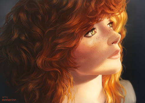 Redhead in the sun