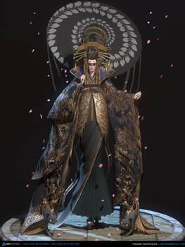 Geisha 3D real-time (Artstation Challenge)