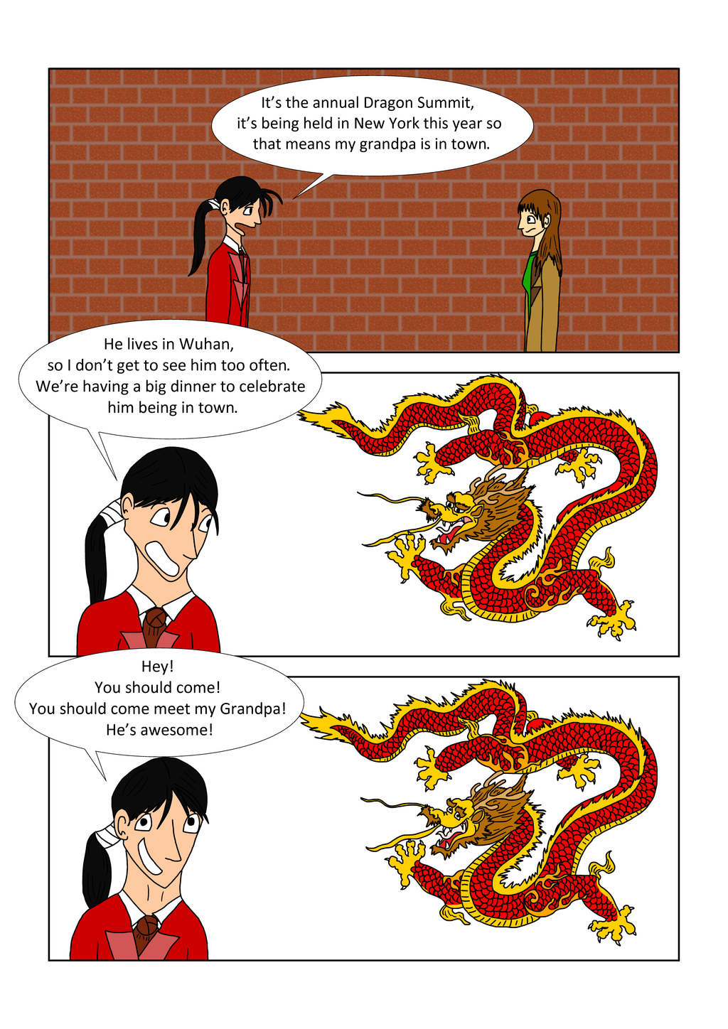 Chinese dragons increase in awesome the longer they live.
