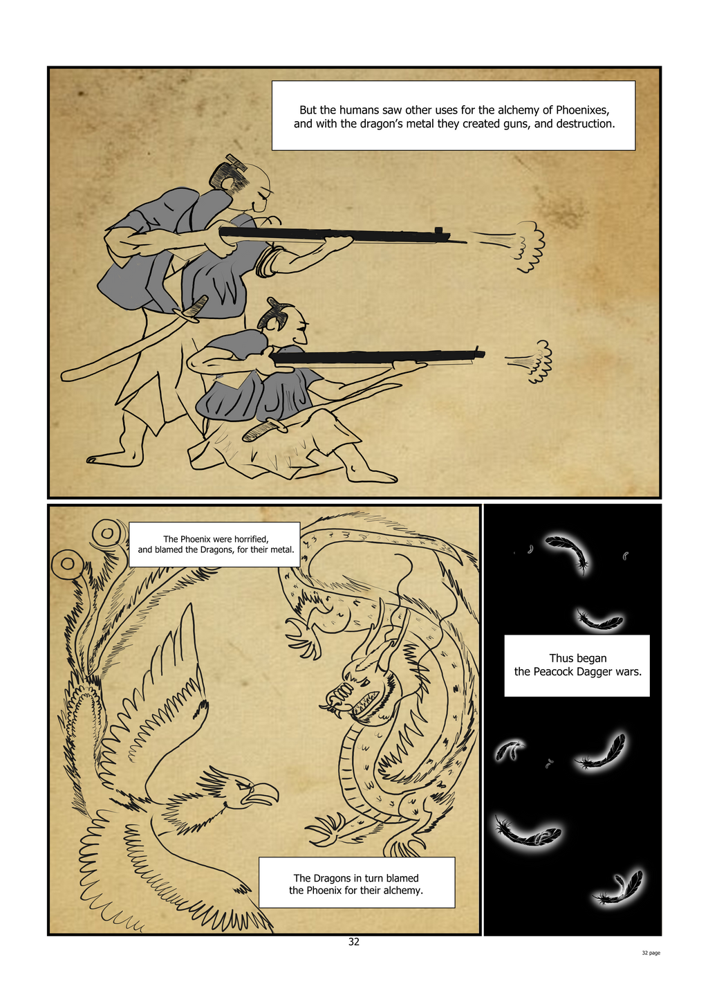 Dragons from the way Northern parts of China have small tusks like the one in this page.