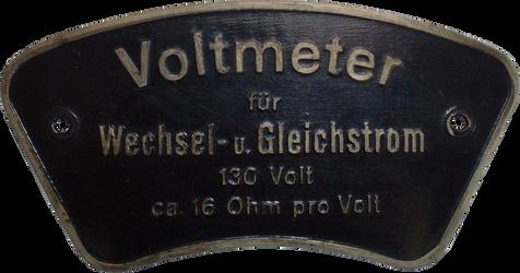 Voltmeter Emplem 130V Antik