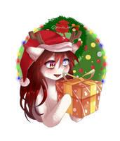 Enya holding her gift